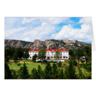 Hotel de Stanley, parque de Estes, Colorado Tarjeta De Felicitación