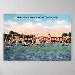 Hotel de Syracuse, Indiana Spink en el lago Wawase Poster