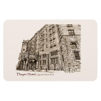 Hotel de Thayer en rosa Imán Rectangular