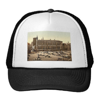 Hotel de Ville and market place, Aachen, the Rhine Trucker Hat