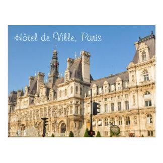Hotel de Ville in Paris, France Postcard