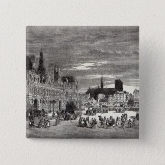 Hotel de Ville, Paris, 1847 Button