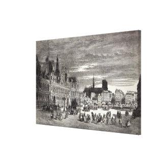 Hotel de Ville, Paris, 1847 Canvas Print