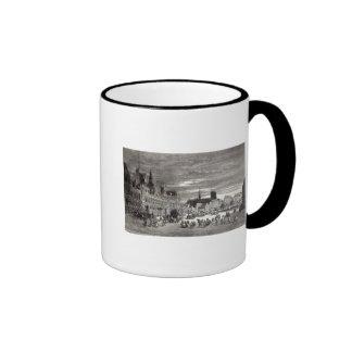 Hotel de Ville, Paris, 1847 Ringer Coffee Mug