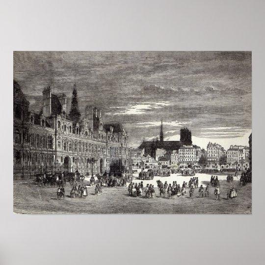 Hotel de Ville, Paris, 1847 Poster