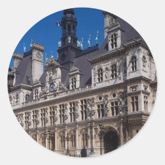 Hotel de Ville Paris France Round Stickers