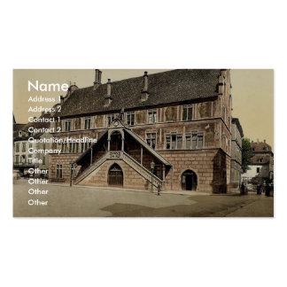 Hotel de Ville (town hall), Mulhausen, Alsace Lorr Business Card Template