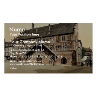 Hotel de Ville (town hall), Mulhausen, Alsace Lorr Double-Sided Standard Business Cards (Pack Of 100)