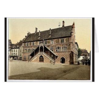 Hotel de Ville (town hall), Mulhausen, Alsace Lorr Greeting Card