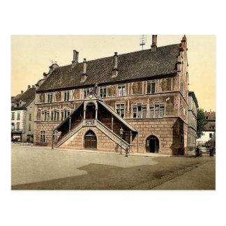 Hotel de Ville (town hall), Mulhausen, Alsace Lorr Postcard