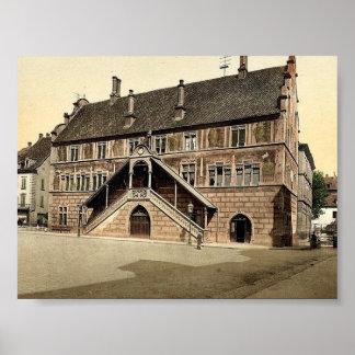 Hotel de Ville (town hall), Mulhausen, Alsace Lorr Posters