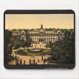 Hotel de ville, vintage Photochrom de Havre, Franc Tapetes De Raton