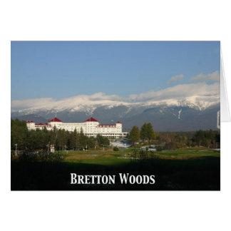 Hotel de Washington del soporte, Bretton Woods Tarjeta De Felicitación