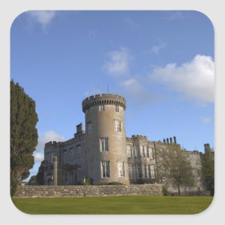 Hotel del castillo de Dromoland adentro Pegatina Cuadrada
