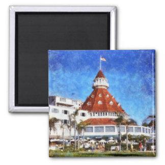 Hotel Del Coronado 2 Inch Square Magnet