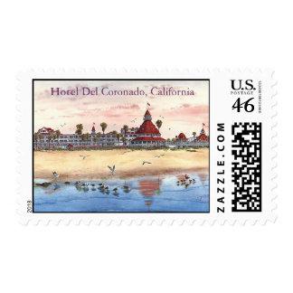 Hotel Del Coronado California Postage Stamp