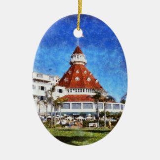 Hotel Del Coronado Ceramic Ornament