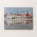 "Hotel del Coronado - Coronado California Jigsaw Puzzle<br><div class=""desc"">A great puzzle. Is it the hotel or its reflection in the surf? This puzzle was created from a photo taken of the legendary Hotel del Coronado built in 1888. The hotel is on Coronado Island across the bay from San Diego.</div>"