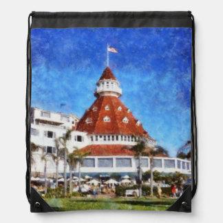 Hotel Del Coronado Drawstring Backpack