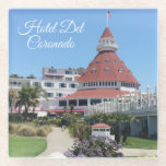 "Hotel Del Coronado Glass Coaster<br><div class=""desc"">This iconic resort,  the Hotel Del Coronado is the perfect vacation spot and it will always bring back great memories. This glass coaster is a great way to preserve those memories. It makes a perfect gift too!</div>"