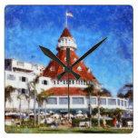 Hotel Del Coronado Reloj Cuadrado