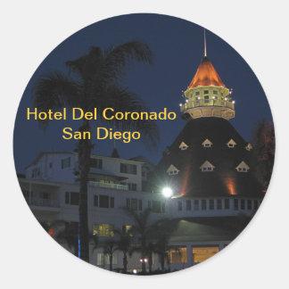 Hotel Del Coronado San Diego California Round Sticker