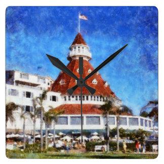 Hotel Del Coronado Square Wall Clock