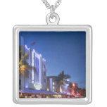 Hotel del faro, impulsión del océano, Miami Beach Collar Plateado