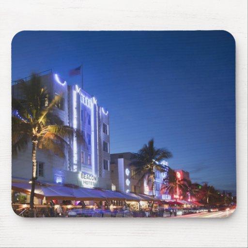 Hotel del faro, impulsión del océano, Miami Beach  Mouse Pad