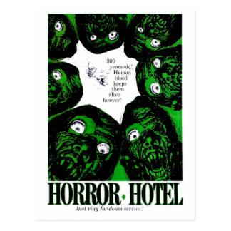 Hotel del horror tarjetas postales