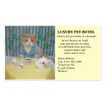 Hotel del mascota tarjetas de visita