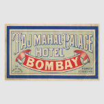 Hotel del Taj Mahal Pegatina Rectangular