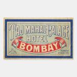 Hotel del Taj Mahal Rectangular Pegatinas