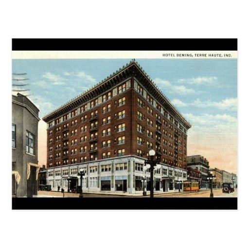 Hotel Deming, Terre Haute, Indiana 1933 Tarjeta Postal