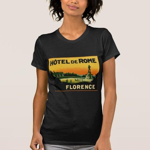 HOTEL DeROME de Florencia Italia Camiseta