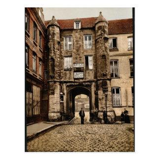Hotel des Guises, Calais, France vintage Photochro Postcard