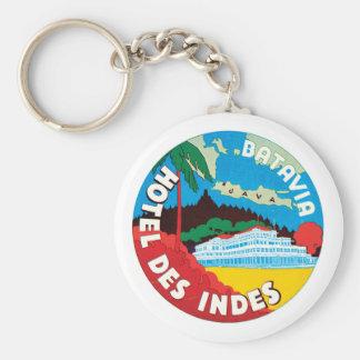 Hotel Des Indes Luggae Label Keychain