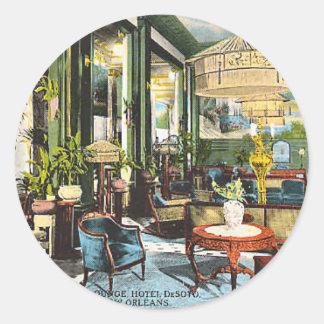Hotel DeSoto New Orleans Classic Round Sticker