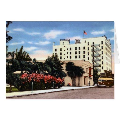 Hotel Dixie de Bradenton la Florida grande Tarjeta De Felicitación