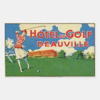 Hotel du Golf (Deauville France) Rectangular Sticker