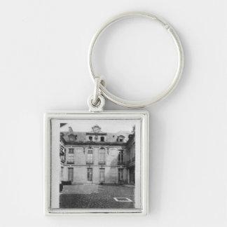 Hotel du Grand Veneur en la ruda de París 60 Llavero Cuadrado Plateado