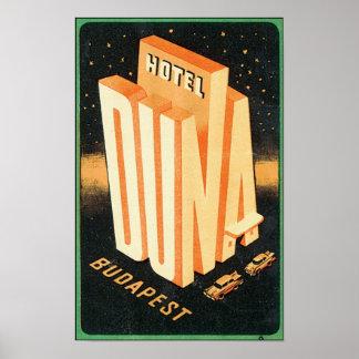 Hotel Duna, Budapest Poster