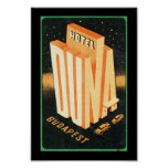 Hotel Duna Budapest Poster
