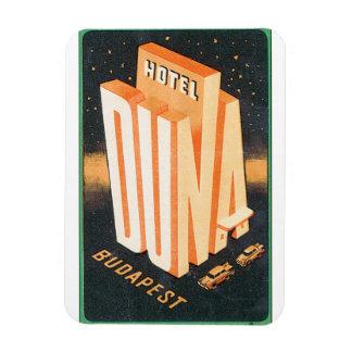 Hotel Duna Budapest Vintage Travel Poster Rectangular Photo Magnet