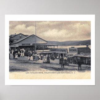 Hotel, el punto de Nolan, lago Hopatcong, vintage Póster