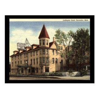 Hotel, Escanaba, Michigan Vintage Postcard