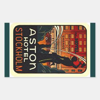 Hotel Estocolmo Suecia del viaje del vintage del Rectangular Altavoz