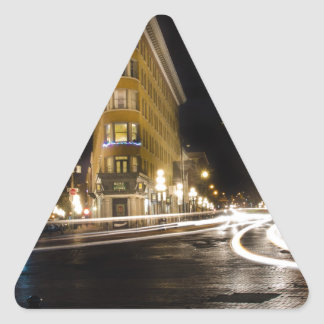 Hotel Europa in Gastown Vancouver Triangle Sticker