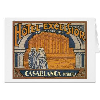 Hotel Excelsior Casablanca Card