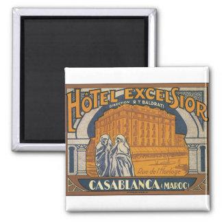 Hotel Excelsior Casablanca 2 Inch Square Magnet